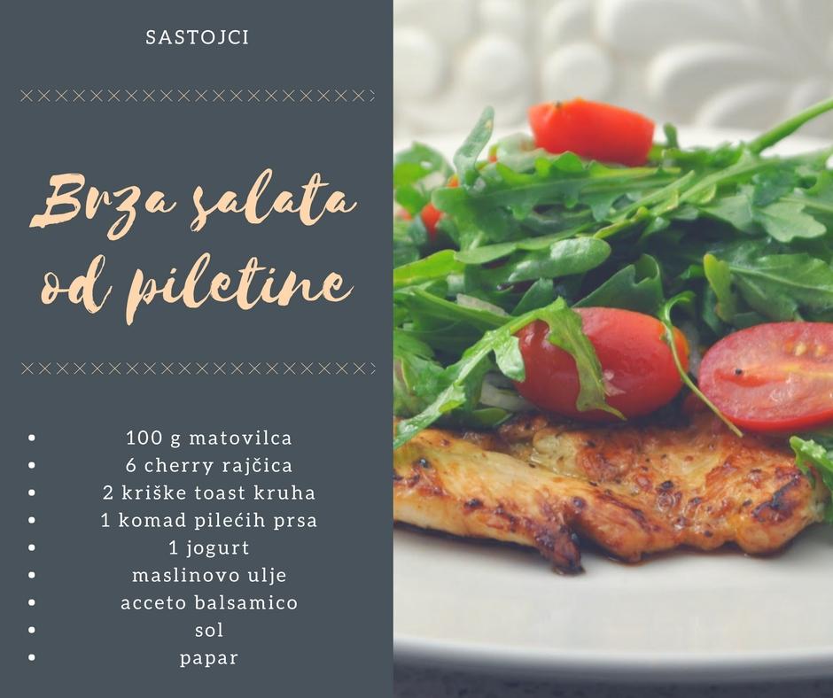 Brza ljetna salata od piletine